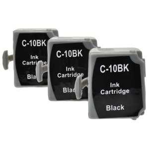 3x cartridge Canon BCI-10BK black černá kompatibilní inkoustová náplň pro tiskárnu Canon BCi-10