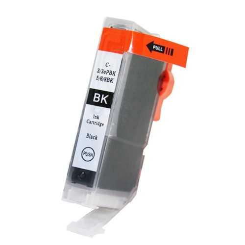 Canon BCI-6bk black foto cartridge černá kompatibilní inkoustová náplň pro tiskárnu Canon PIXMA IP5000