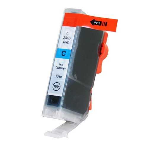 Canon BCI-6C cyan cartridge modrá azurová kompatibilní inkoustová náplň pro tiskárnu Canon PIXMA IP5000