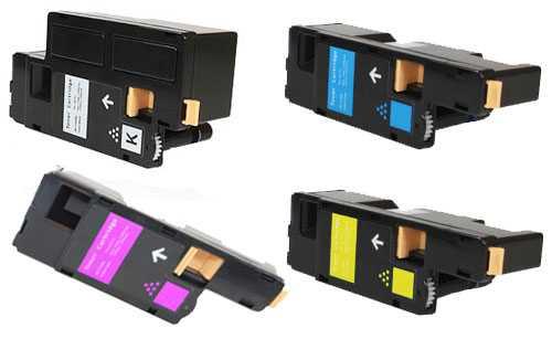 sada tonerů Epson C17xx (C13S050611, C13S050612, C13S050613, C13S050614) - 4 x kompatibilní tonery pro tiskárnu Epson Aculaser CX17DNF
