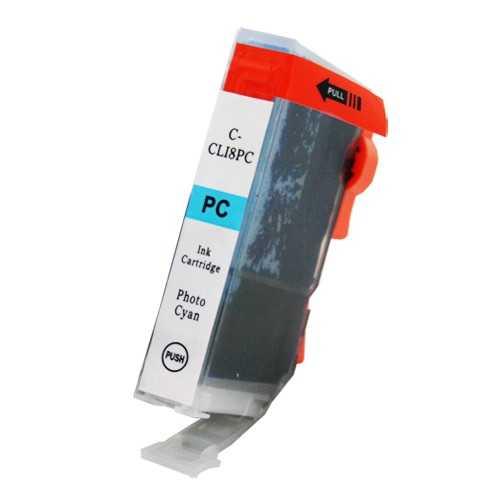 Canon CLI-8PC foto cyan cartridge azurová modrá s čipem kompatibilní inkoustová náplň pro tiskárnu Canon PGI-5/CLI-8