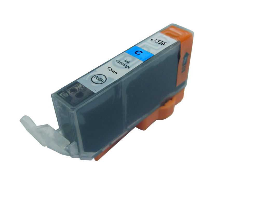 Canon CLI-526c cyan cartridge modrá azurová kompatibilní inkoustová náplň pro tiskárnu Canon PIXMA IX6550