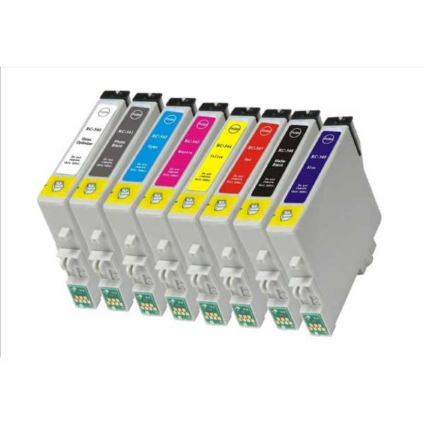 sada Epson T0540, T0541, T0542, T0543, T0544, T0547, T0548, T0549 kompatibilní inkoustové náplně pro tiskárnu Epson Stylus Photo R1800