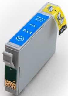 Epson T0712 cyan cartridge modrá azurová kompatibilní inkoustová náplň pro tiskárnu Epson Stylus SX105