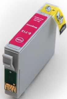 Epson T0713 magenta purpurová cartridge, červená kompatibilní inkoustová náplň pro tiskárnu Epson Stylus SX105