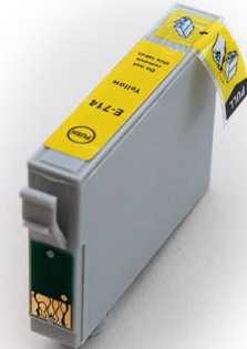 Epson T0714 yellow cartridge, žlutá kompatibilní inkoustová náplň pro tiskárnu Epson Stylus SX105