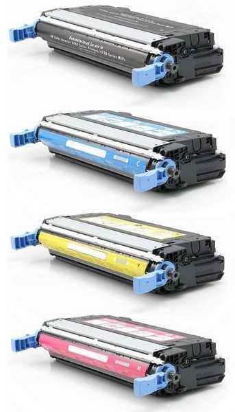 sada tonerů HP 643A, HP Q5950A, Q5951A, Q5952A, Q5953A kompatibilní tonery pro tiskárnu HP Color LaserJet 4700ph plus