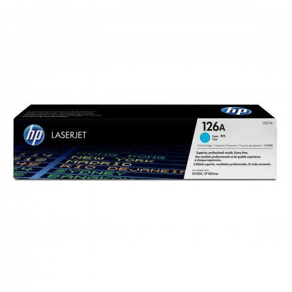 originál HP CE311A (HP 126A) cyan modrý azurový originální toner pro tiskárnu HP Color LaserJet Pro CP1028nw