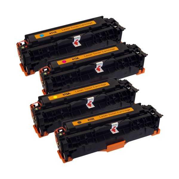 sada 4x toner HP CE410X, CE411A, CE412A, CE413A (HP 305A) kompatibilní tonery pro tiskárnu HP LaserJet Pro 400 M475dw