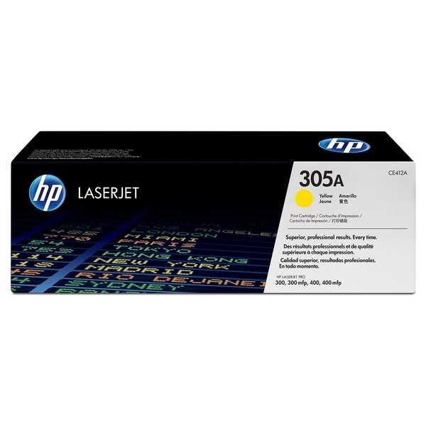 originál HP CE412A (HP 305A) yellow žlutý originální toner pro tiskárnu HP LaserJet Pro 400 M475dw