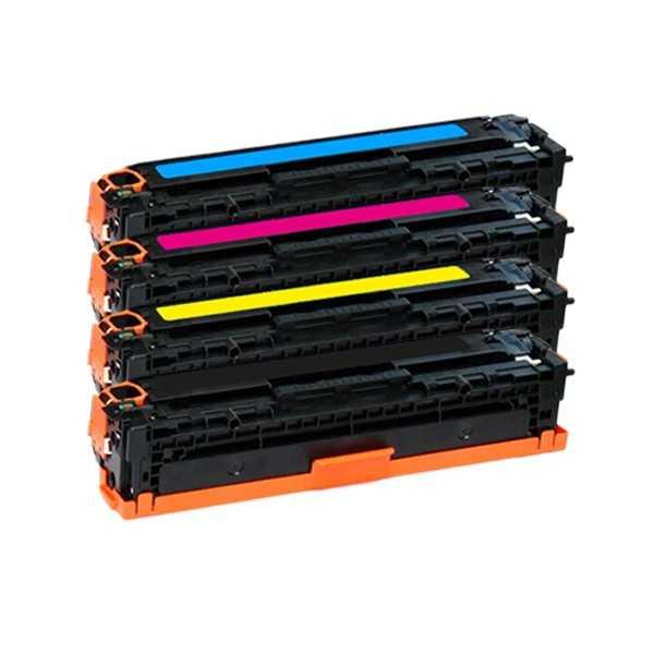 sada tonerů HP 131X (HP CF210X, CF211A, CF212A, CF213A) - 4x kompatibilní tonery pro tiskárnu HP LaserJet Pro 200 M276n