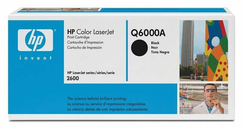 originál HP Q6000A black černý originální toner pro tiskárnu HP Color LaserJet 1600
