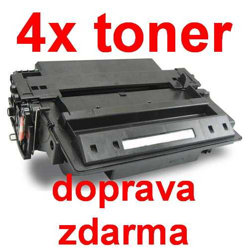 4x toner HP 11A, HP Q6511A black černý kompatibilní toner pro tiskárnu HP LaserJet 2420