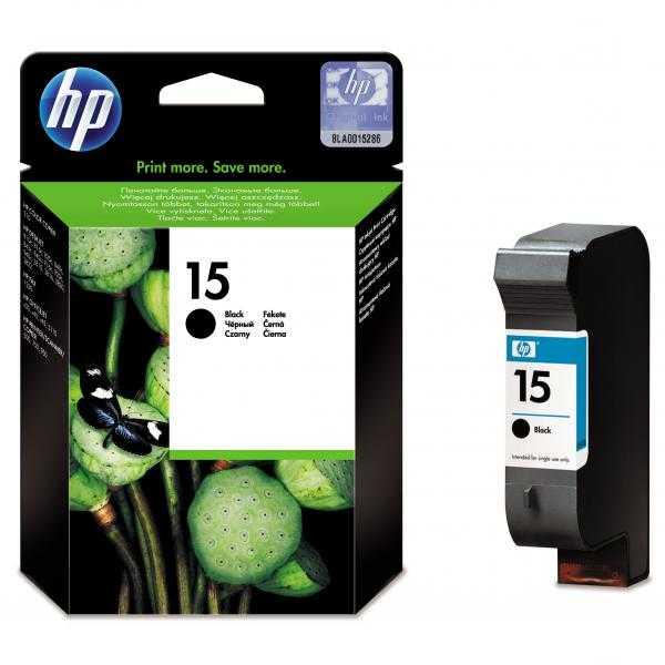 originál HP15 (C6615A - C6615D) black cartridge černá originální inkoustová náplň pro tiskárnu HP OfficeJet V45