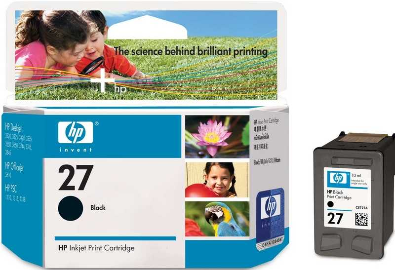 originál HP27 (C8727AE) black černá cartridge orginální inkoustová náplň pro tiskárnu HP HP 27 (C8727A)