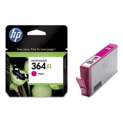 originál HP 364XL-M (CB324EE) - magenta purpurová červená originální cartridge pro tiskárnu HP Photosmart Plus B209c