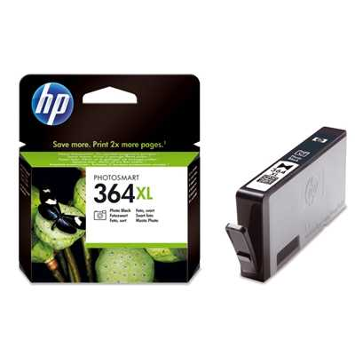 originál HP 364XL-Pbk (CB322EE) foto černá originální cartridge pro tiskárnu HP Photosmart Premium e-AIO C310C