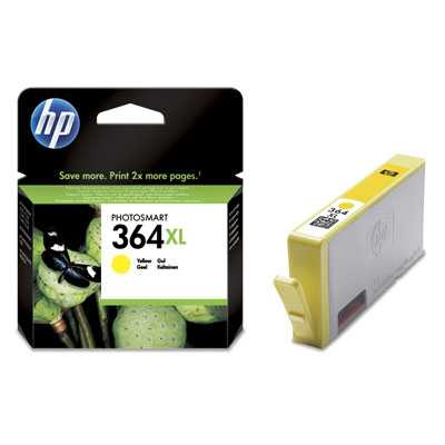 originál HP 364XL-Y (CB325EE) - yellow žlutá originální cartridge pro tiskárnu HP Photosmart Premium E AIO