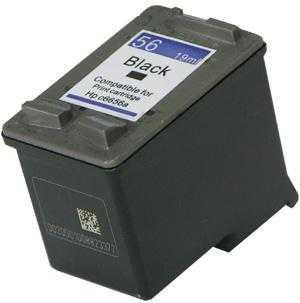 HP56 (C6656AE) black cartridge černá kompatibilní inkoustová náplň pro tiskárnu HP HP 56 (C6656A)