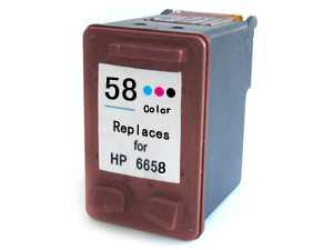HP 58 (C6658A) foto barevná cartridge kompatibilní inkoustová náplň pro tiskárnu HP OfficeJet 5600