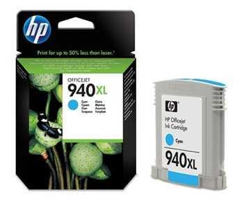 originál HP 940XL (C4907AE) cyan azurová modrá originální inkoustová cartridge pro tiskárnu HP OfficeJet Pro 8500a Plus