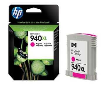 originál HP 940XL (C4908AE) magenta purpurová červená originální inkoustová cartridge pro tiskárnu HP OfficeJet Pro 8500a Plus