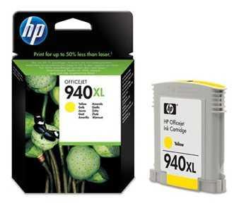 originál HP 940XL (C4909AE) yellow žlutá originální inkoustová cartridge pro tiskárnu HP OfficeJet Pro 8500a Plus