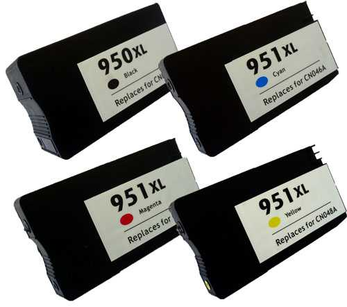 sada HP 950XL-951XL (950XL-BK,951XL-C,951XL-M,951XL-Y) C2P43AE kompatibilní inkoustová cartridge pro tiskárnu HP OfficeJet Pro 8630