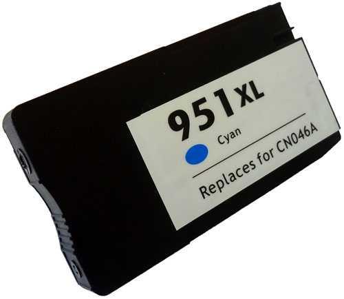 HP 951XL (CN046AE) cyan azurová modrá kompatibilní inkoustová cartridge pro tiskárnu HP OfficeJet Pro 276dw