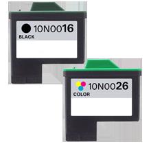 sada Lexmark 80D2126 #16+#26 10N0016-10N0026 inkoustová kompatibilní cartridge pro tiskárnu Lexmark Lexmark 10N0016 - 16# black černá