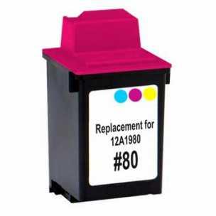 Lexmark #80 12A1980 color barevná inkoustová kompatibilní cartridge pro tiskárnu Lexmark ColorJetPrinter 7200
