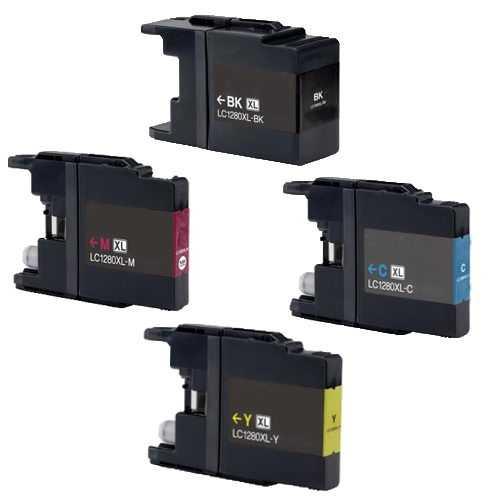 6x sada Brother LC-1280XL (LC-1280BK, LC-1280C, LC-1280M, LC-1280Y) kompatibilní inkoustové cartridge pro tiskárnu Brother