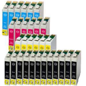 30 kazet - sada Epson T1285 (T1281, T1282, T1283, T1284) cartridge kompatibilní inkoustové náplně pro tiskárnu Epson Stylus SX230