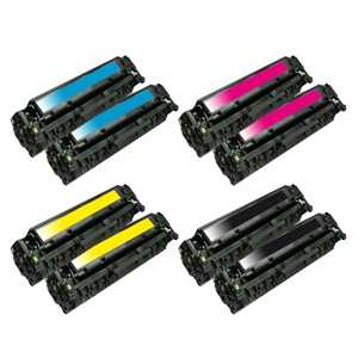 2x sada tonerů HP 304A (HP CC530A, CC531A, CC532A, CC533A) - 8x kompatibilní toner pro tiskárnu HP Color LaserJet CP2025dn