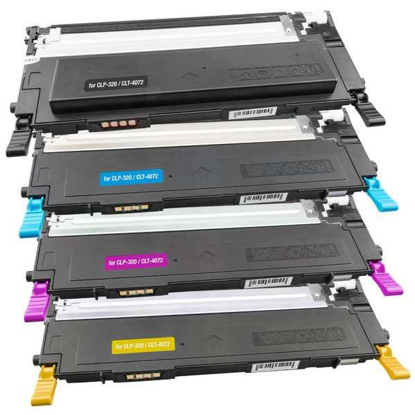 2x sada tonerů Samsung CLT-P4072C (CLT-K4072S, CLT-C4072S, CLT-M4072S, CLT-Y4072S) - 8 kompatibilní tonery pro tiskárnu Samsung Samsung CLT-K4072S