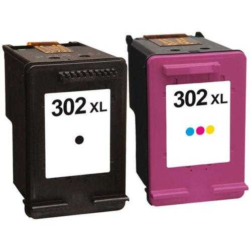 HP 302XL BK a Color (F6U68AE-F6U67AE) black color černá a barevná cartridge kompatibilní inkoustová náplň pro tiskárnu HP Envy 4520 All-in-One