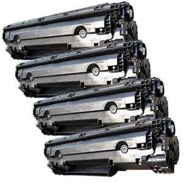 4x toner HP 36A, HP CB436AD (2000 stran) black černý kompatibilní toner pro tiskárnu HP LaserJet P1505
