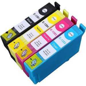 4x sada Epson T1285 cartridge kompatibilní inkoustové náplně pro tiskárnu Epson Stylus SX235