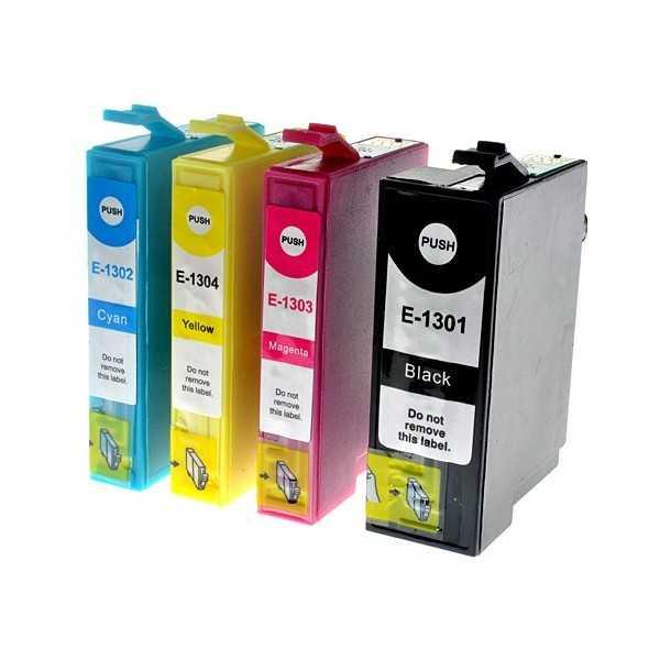 3x sada Epson T1306 (T1301, T1302, T1303, T1304) cartridge kompatibilní inkoustové náplně pro tiskárnu Epson WorkForce WF3540DTWF