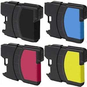 6x sada Brother LC980/LC1100 cartridge kompatibilní inkoustová náplň pro tiskárnu Brother Brother LC-980/LC-1100