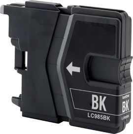 4x Brother LC985bk black cartridge černá kompatibilní inkoustová náplň pro tiskárnu Brother