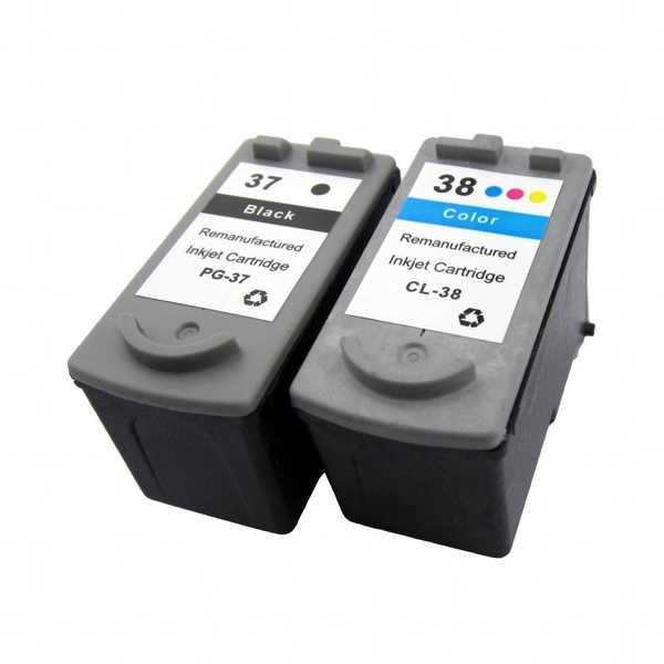 sada Canon PG-37 + CL-38 black + color černá a barevná kompatibilní inkoustová náplň cartridge pro tiskárnu Canon PIXMA MP470