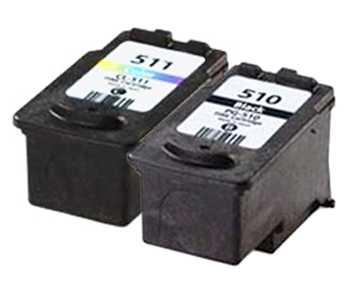 sada PG-510 + CL-511 multipack black, color černá, barevná kompatibilní cartridge inkoustové náplně pro tiskárnu Canon PIXMA MP280