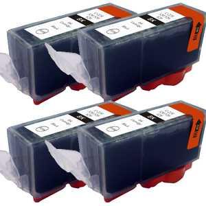 4x Canon PGI-525bk black cartridge černá kompatibilní inkoustová náplň pro tiskárnu Canon Pixma MG5350
