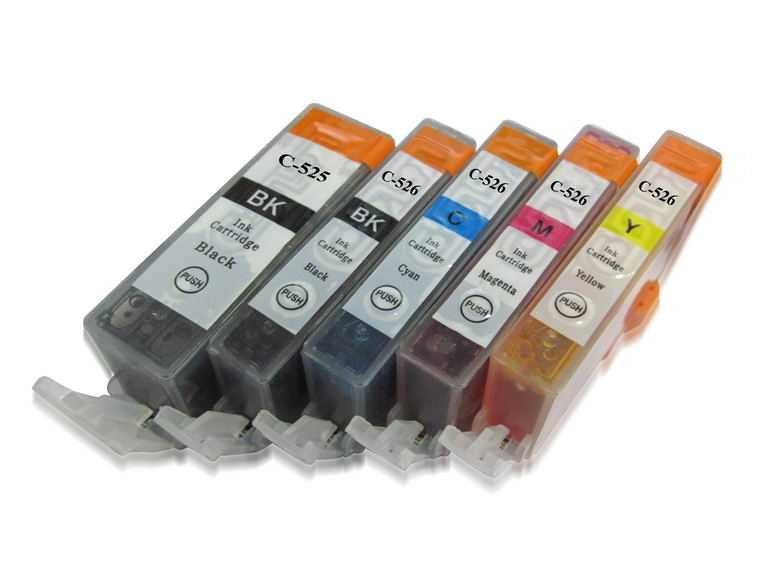 sada Canon PGI-525 + CLI-526 cartridge kompatibilní inkoustové náplně pro tiskárnu Canon PGI-525/CLI-526