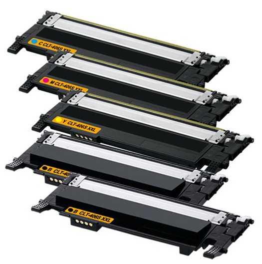 sada Samsung CLT-P406S - 5x toner (CLT-K406S, CLT-C406S, CLT-M406S, CLT-Y406S) kompatibilní tonery pro tiskárnu Samsung Xpress SL-C467W