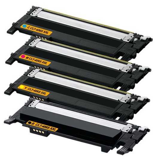 sada Samsung CLT-P406S - 4x toner CMYK (CLT-K406S, CLT-C406S, CLT-M406S, CLT-Y406S) kompatibilní tonery pro tiskárnu Samsung Xpress SL-C467W