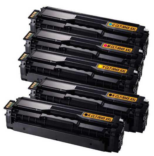 sada Samsung CLT-P504S - 5x toner (CLT-K504S, CLT-C504S, CLT-M504S, CLT-Y504S) kompatibilní tonery pro tiskárnu Samsung SL-C1860FW