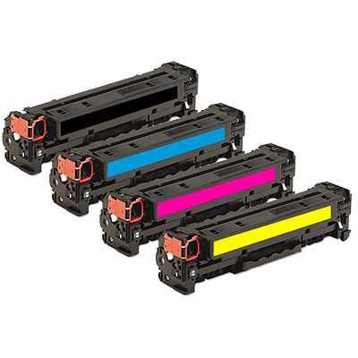sada tonerů HP 304A (HP CC530A, CC531A, CC532A, CC533A) 4x kompatibilní toner pro tiskárnu HP Color LaserJet CP2025dn