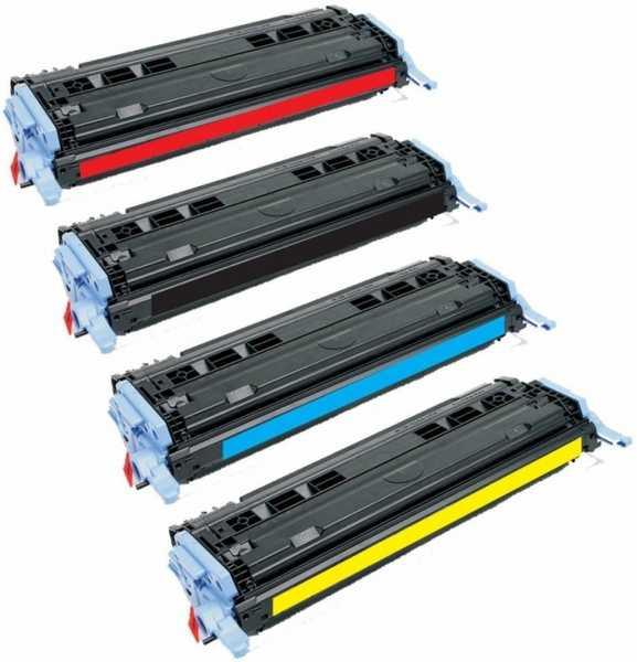 sada HP 124A (HP Q6000A, Q6001A, Q6002A, Q6003A) 4x kompatibilní toner pro tiskárnu HP Color LaserJet 1600